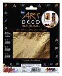Art Deco bladmetaal, 6 vel goud (14 x 14 cm)