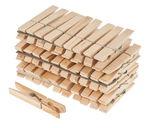 Houten wasknijpers (7 x 40 mm) 50 stuks