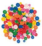 Houten knopen, kleurrijk, 200 stuks