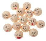 Wattenbollen - grappige gezichten (20mm) 15 stuks
